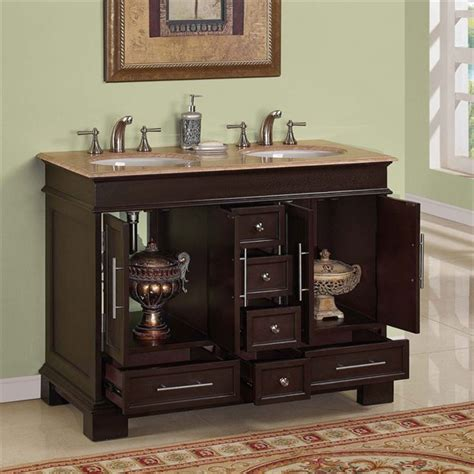 48 inch double bathroom vanity silkroad exclusive hyp 0224 uwc 48 48 inch double sink