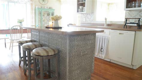 Tin Kitchen by Faux Tin Ceiling Tiles Kitchen Island White Lace Cottage