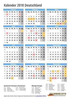 Kalender 2018 Schweiz Querformat In Farbe Kalender 2018 Zum Ausdrucken Pdf Vorlagen