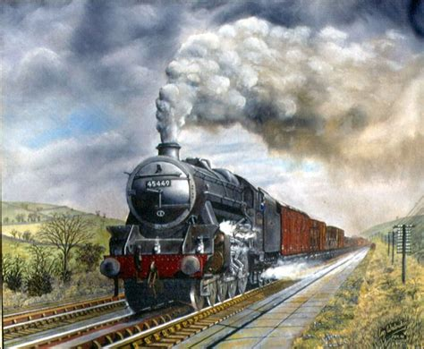 painting trains steam trains in paintings www whamart co uk