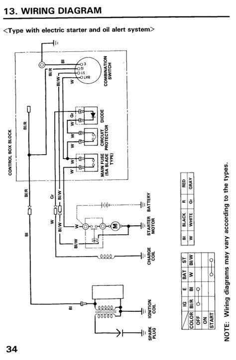 honda gx160 electric start wiring diagram 41 wiring