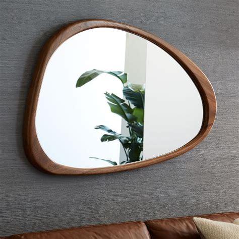 mid century mirror mid century asymmetrical wall mirror west elm