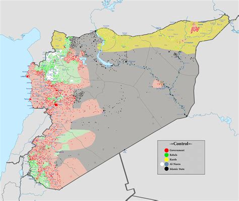 syria map of the crowded syrian battlefield is a turkish next