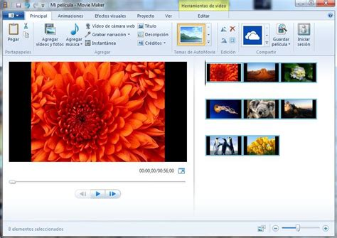 importar imagenes y videos windows 7 tutorial movie maker primeros pasos para crear video