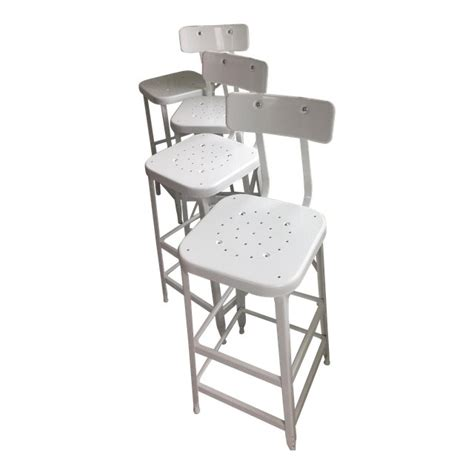 Bar Stools With Backs Set Of 4 by Industrial Bar Stools With Backs Set Of 4 Chairish