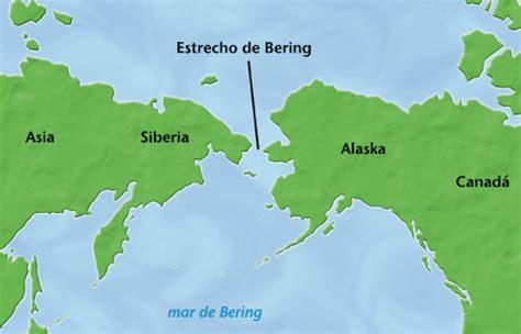 Mapa Del Estrecho De Bering | los primeros pobladores de am 233 rica los origenes del hombre