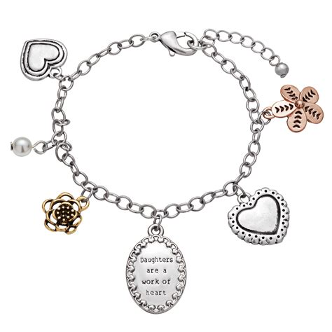 7 Pretty Charms For Your Daughters Charm Bracelet by Magsamen Daughters Oval Engravable Charm Bracelet