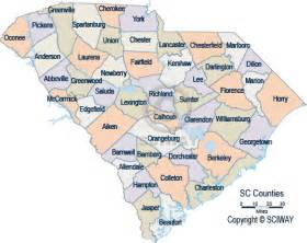 south carolina detailed county maps