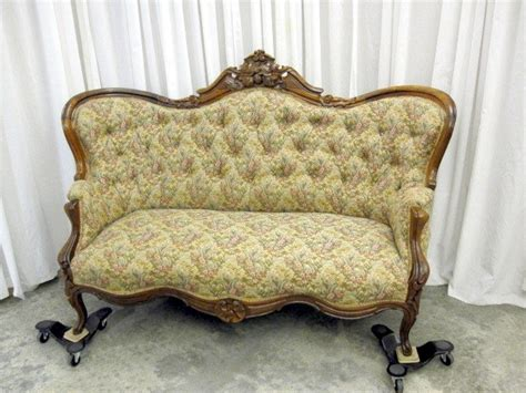 antique loveseat for sale antique walnut victorian style button tuft sofa chaise for