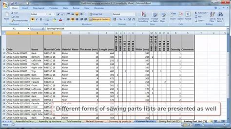 bill template how to make a bill of materials in excel