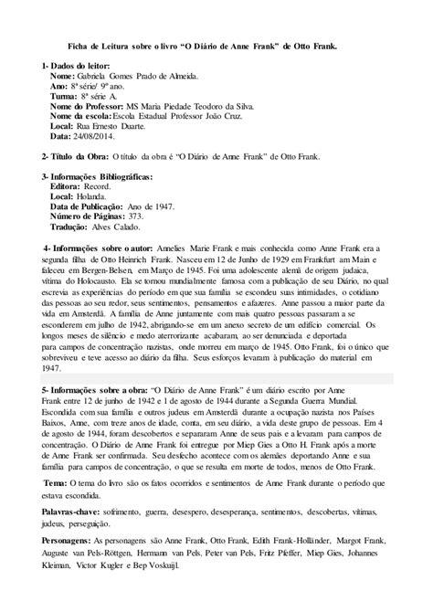 Interpretação De Texto Genero Diario Com Gabarito 8 Ano