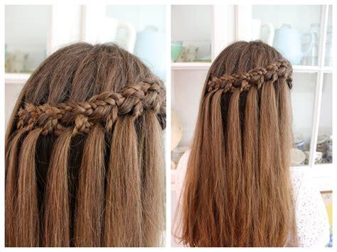 youtube tutorial waterfall braid micro braid waterfall tutorial hairandnailsinspiration