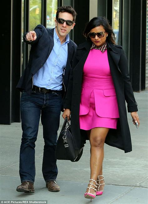 Bj 9216 Black City Sleeve Blouse kaling in a fuchsia dress as she joins bj novak in nyc daily mail
