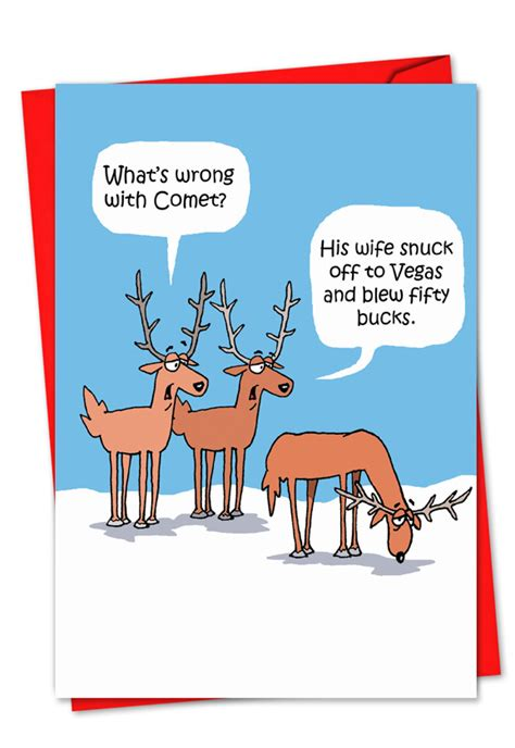 comets problem christmas card funny naughty cards
