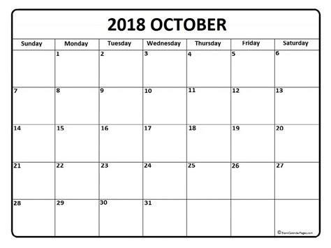 printable calendar oct 2018 october 2018 calendar printable template site provides