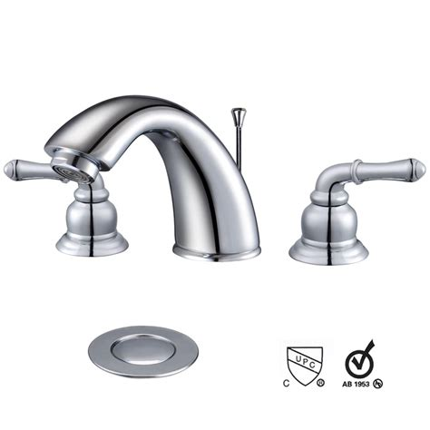 3 holes widespread bathroom vessel sink lavatory faucet w