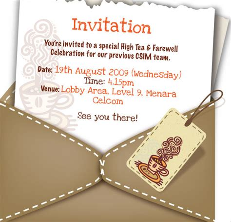 21 farewell invitation template free sle exle