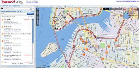 yahoo maps yahoo maps get more local techcrunch