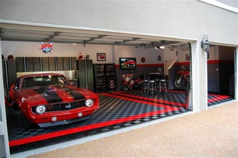 awesome garage ideas racedeck garage flooring ideas cool garages with cool cars too traditional wall and floor