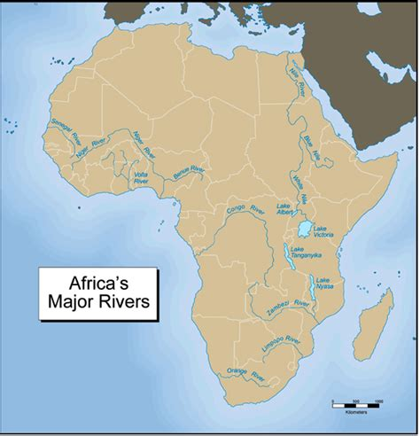 africa map features physical features of africa ags geography