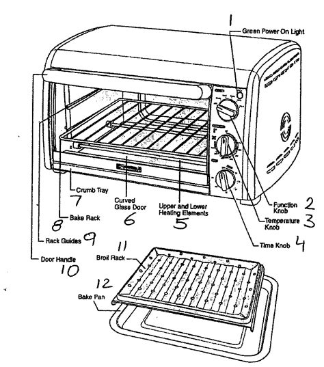 Toaster Oven Repair Cabinet Parts Diagram Amp Parts List For Model 10081005