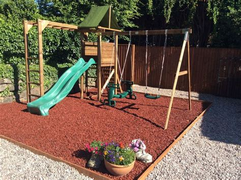 backyard playground mulch details about rubber play bark chippings for play area