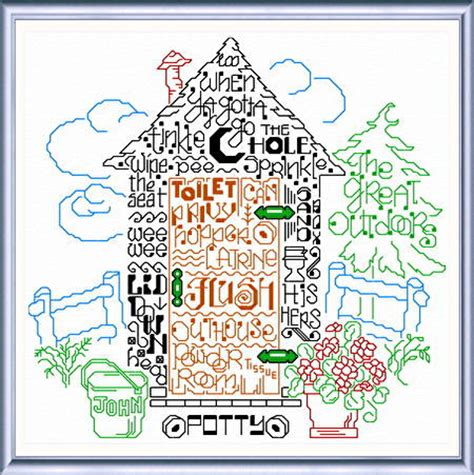 cross stitch pattern for words let s go potty cross stitch pattern words