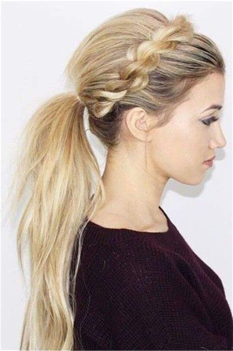 easy and beautiful pony hairstyles best 25 braid ponytail ideas on pinterest braided