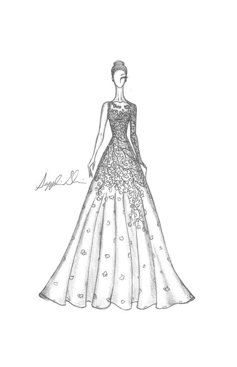 zuhair murad and christian dior dress sketch - Google Search | Fashion artwork, Fashion