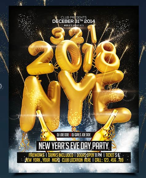 best new years 30 best new year s flyers and invitations