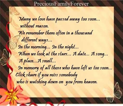 Birthday Quotes For Someone Who Away My Brother Passed Away Too Soon Precious Family God