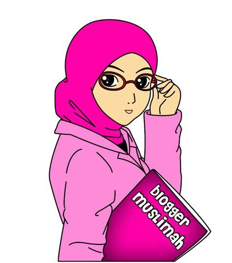 gambar kartun muslimah  foto profil top gambar