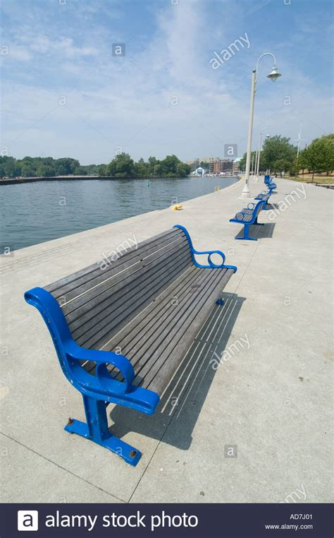 park benches canada park benches on pier in harbour at bronte oakville ontario