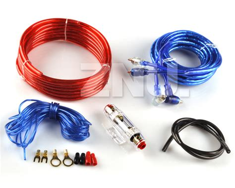 1200w 2 channel car amplifier power amp 8 gauge ga install wiring kit rca fuse jpg
