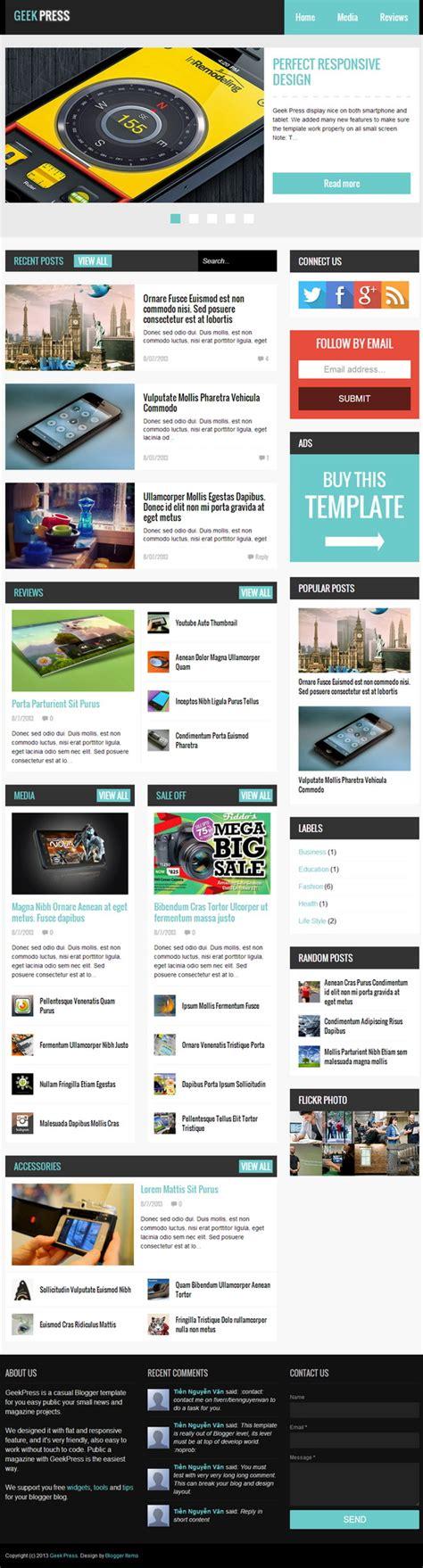templates blogger premium geek press premium blogger template blogger templates 2018