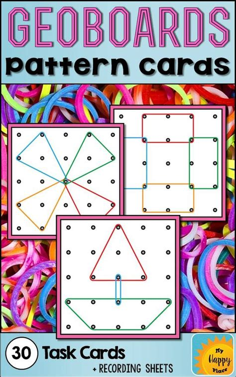 writing pattern cards geoboards task cards shape 1st grades and activities