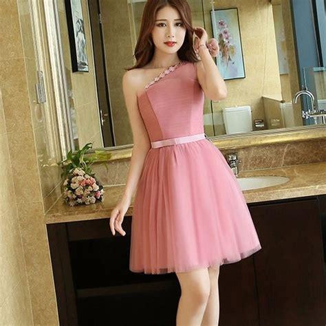 vestido corto elegante vestidos elegantes cortos un hombro cintilla sensual tres