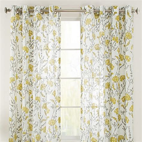 citron colored curtains bethany grommet window curtain panel bed bath beyond