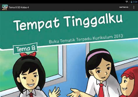 Buku Kelas 4 Tema 8 Daerah Tempat Tinggalku bse kur 2013 sd kelas 4 tema 8 android apps on play