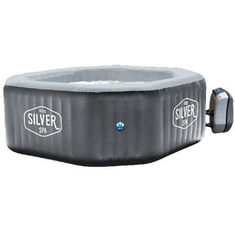 vasca gonfiabile vasca idromassaggio da esterno gonfiabile 5 6 persone silver