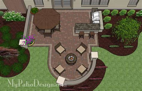 My Patio Design Creative Backyard Patio Design With Seating Wall 525 Sq
