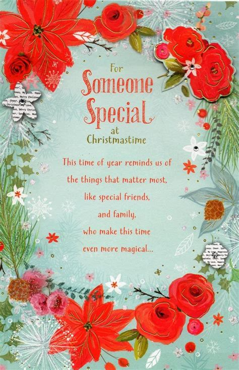 Christmas Gift Card Specials - someone special traditional christmas greeting card cards love kates