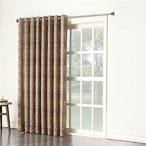 brown outdoor curtains sun zero celestia energy efficient patio door curtain