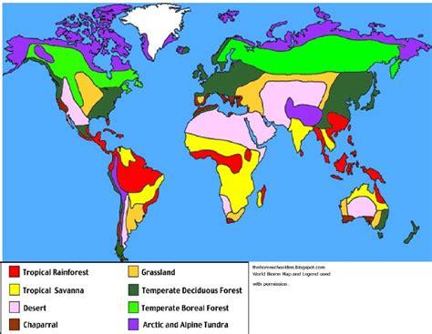 world biome map  legend  grade pinterest