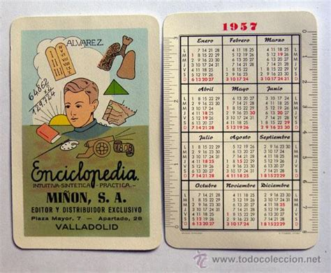 Calendario De 1957 Calendario A 209 O 1957 Enciclopedia Mi 209 On S A Valladolid