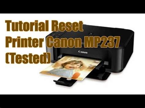 cara me reset printer canon pixma mp237 cara mereset printer canon mp237 funnydog tv