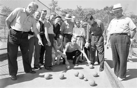Piero Court White history of bowling boules and bocce in parks nyc parks