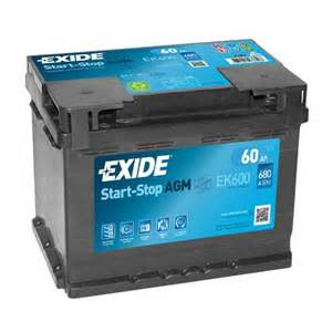 Car Battery Price Exide Exide 027 Agm Car Battery 60ah Ek600 Car Batteries