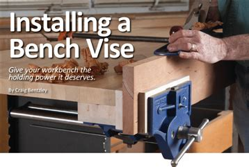 how to install a bench vise installing a bench vise