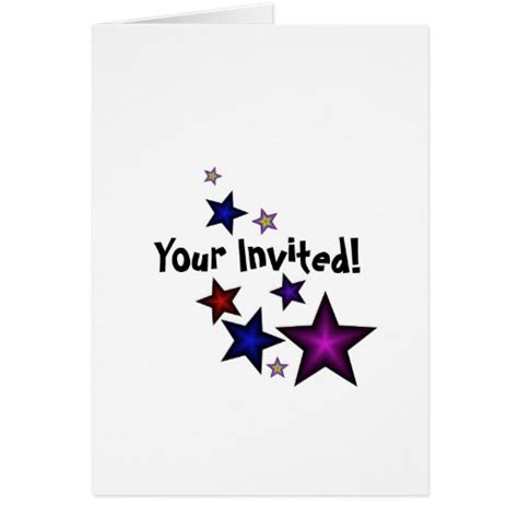 My Birthday Card Your Invited To My Birthday Party Greeting Card Zazzle